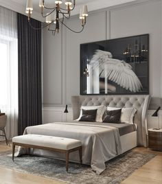 Family Home Interior Take a look at some contemporary bedroom design inspirations! Home Interior Take a look at some contemporary bedroom design in Luxury Bedroom Furniture, Luxury Bedroom Design, Modern Bedroom Decor, Master Bedroom Design, Contemporary Bedroom, Luxury Bedding, Master Suite, Bedroom Designs, Contemporary Classic
