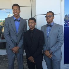They guys came dressed in style for #HoopHall2015.