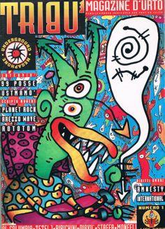 Tribù Magazine d'urto n.1, 1994 Grafica e illustrazione Ale Pop