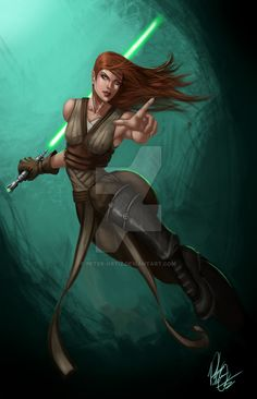 Female Jedi by Peter-Ortiz on DeviantArt