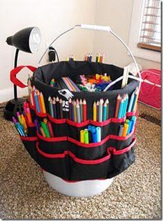 Get Organized: Kid's Art Supplies -