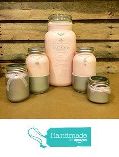 Ballet Pink Princess Mason Jar Set, Princess Vanity Set, Baby Girl Shower Decor, Bridal Shower Centerpiece with Pink and Silver Jars from AmericanaGloriana https://www.amazon.com/dp/B01GFAJTIM/ref=hnd_sw_r_pi_dp_9D2zxb9K3D8XE #handmadeatamazon
