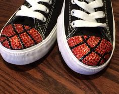Women's High Top Converse Blinged Shoes. Basketball Converse Blinged Shoes. - Edit Listing - Etsy