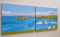 Burgh Island, the Promise of Summer by Hazel Strange from the In a Landscape exhibition at Harbour House, June 2016