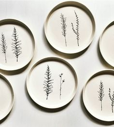 Edible Garden Herb Ceramic Dinner Plates, Set of 6 by Ceramics by Lina LaV on Scoutmob Shoppe