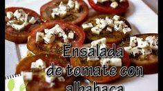Muchas Recetas - YouTube Tomate con albahaca y queso fresco