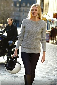 Barbour International: The Juno jumper is perfect for chilly autumn afternoons.