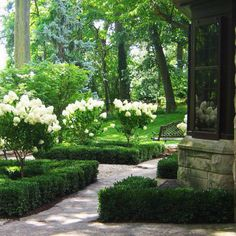 46 Chic Garden Design Ideas That Are Suitable For Relaxing is part of Boxwood garden If you& going to have a rock garden with plants, the first step is choosing the right plants for you […] - Boxwood Landscaping, Boxwood Garden, Garden Shrubs, Garden Paths, Backyard Landscaping, Boxwood Hedge, Cedar Hedge, Privet Hedge, Evergreen Hedge