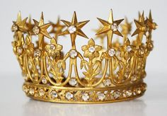 """shewhoworshipscarlin: """" Crown, late 1800s, France. """""""