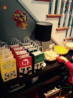 Super Mario Brothers Gift Bags (mario, luigi and princess peach)