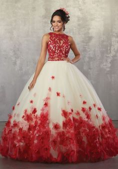 Two Piece Quinceanera Dresses, Mori Lee Quinceanera Dresses, Mori Lee Dresses, 15 Dresses, Ball Dresses, Pretty Dresses, Beautiful Dresses, Fashion Dresses, Red Sweet 16 Dresses
