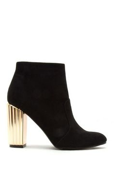 Muller Gold Heel Bootie by Qupid on @nordstrom_rack