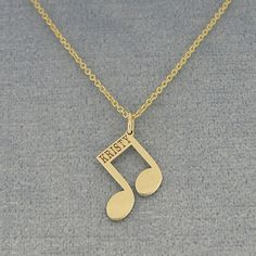 This cute and chic 18K Gold Plated Name Engraved Music Note Charm Pendant is the perfect gift for anytime of the year. Select any name or initials of your choice to be engraved on this special music note pendant, which is beautifully crafted by solid Sterling Silver hanging on the sturdy Rollo chain. This name engraved pendant in fine quality Sterling Silver is cut out by latest technology laser machine with top quality guaranteed and high polished finish. The chain is optional and all the…