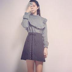 banetd 바냇디 korean shoppingmall naver storefarm  -- 2016fw fashion lookbook / ruffle knits , lace-up wool mini-skirt