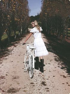 I might would wear this lacey dress just to bike in.