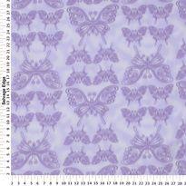 Fleece - Butterflies on Purple Fleece Fabric