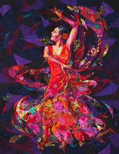 Dancer - Quilt art by Danny Amazonas