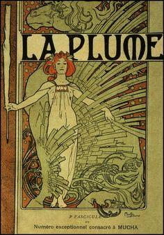 Mucha font — La Plume — 1897
