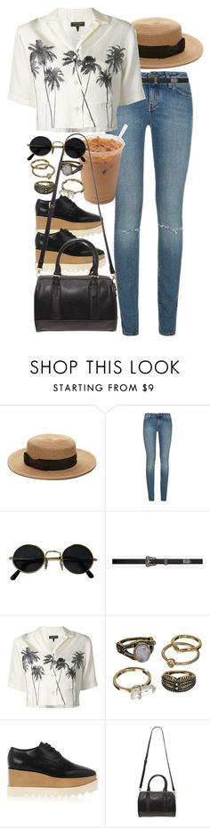 """""""Untitled #8956"""" by nikka-phillips ❤ liked on Polyvore featuring Forever 21, Yves Saint Laurent, rag & bone, Mudd and STELLA McCARTNEY"""