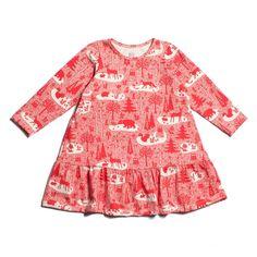 Winter Water Factory Aspen Dress | Winter Forest Red