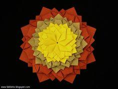 Mandala de Origami criada por Falk Brito.