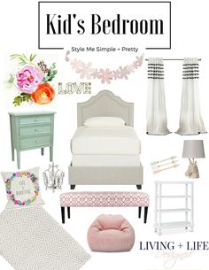 Could this girl's room be any sweeter?!?! Great blending of colors without too much pink - Juliette is going to love it.