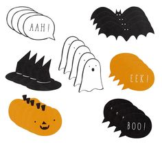 CARD CUT OUTS: HALLOWEEN