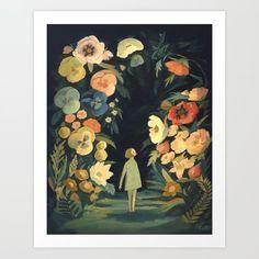 Print av Emily Winfield Martin/ The Black Apple via Vintagefabriken Amazing Paintings, Original Paintings, Canvas Prints, Art Prints, Garden Art, Decoration, Poppies, Printer, Gallery Wall