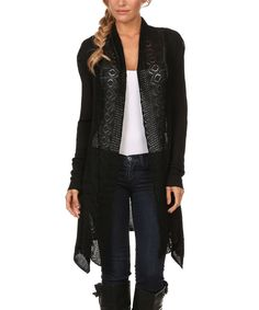 Love this BellaBerry USA Black Lace Open Cardigan by BellaBerry USA on #zulily! #zulilyfinds