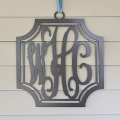 Metal Monogram - Beautiful Crest Frame.  Perfect for outside too.