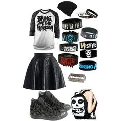 Bracelets are good for hiding scars by carlile-babe on Polyvore featuring polyvore, fashion, style, INDIE HAIR, Chicwish, Iron Fist, Vans and Converse