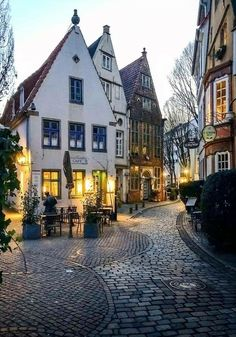 Schnoor, a neighborhood in the medieval center of Bremen, Germany Places Around The World, Oh The Places You'll Go, Places To Travel, Places To Visit, Around The Worlds, Wonderful Places, Beautiful Places, Beautiful Pictures, Beau Site