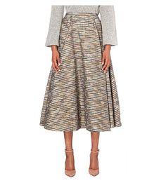 EMILIA WICKSTEAD A-Line Jacquard Midi Skirt. #emiliawickstead #cloth #skirts