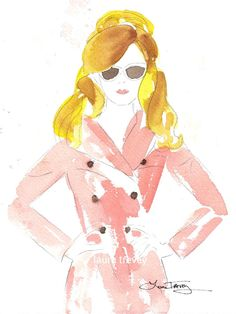 Fashion Illustration in Watercolor by lauratrevey on Etsy, $18.00