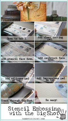Embossing with Stenc