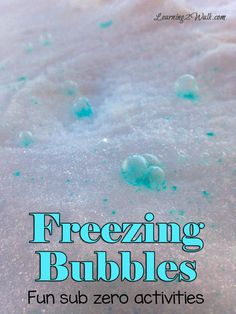 we had so much fun doing these sub zero winter activities and the freezing bubbles were so beautiful