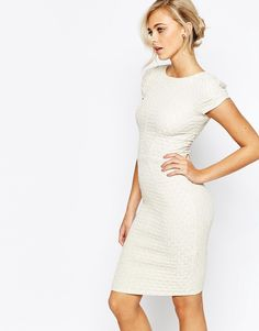 Closet+Cap+Sleeve+Pencil+Dress+In+Metallic
