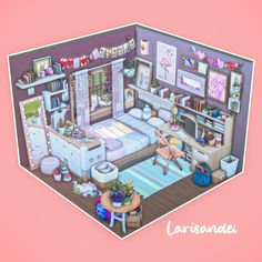 Sims 4 House Plans, Sims 4 House Building, Sims 4 Mods Clothes, Sims 4 Clothing, The Sims 4 Pc, Sims Cc, Sims 4 Loft, Sims 4 Bedroom, Sims 4 House Design
