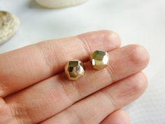 Gold Ball Earrings-Gold Ball Stud Earrings-Gold Stud by MomentusNY