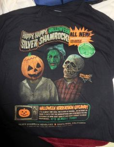 Fright Rags Happy Halloween Silver Shamrock!! Rare shirt