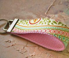 Fabric Wrist Key Chain Key Fob Wristlet Keychain  in by OhKoey, $6.75  https://www.etsy.com/listing/93343662/fabric-wrist-key-chain-key-fob-wristlet?ref=listing-shop-header-1