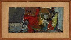 "JAKOB WEIDEMANN STEINKJER 1923 - OSLO 2001  ""Høst"" 1961 Olje på plate, 11x23 cm Usignert Design Art, Modern Design, Oslo, Plate, Painting, Dishes, Contemporary Design, Plates, Paintings"