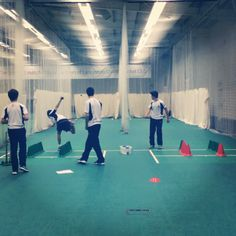 Lancashire juniors hard at work #indoor #cricket #practice #elite #sports #performance #training