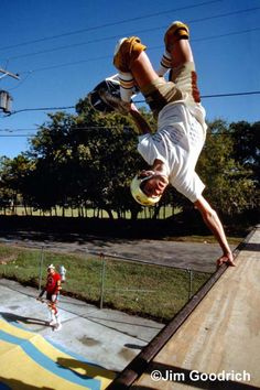 Jeff Phillips (RIP) at the infamous Clown Ramp in Texas. November 1983