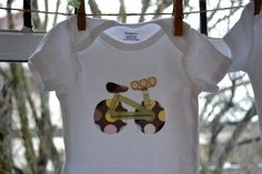 Cute DIY onesie project at a baby shower!