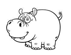 Dibujo de Hipopótamo común para colorear