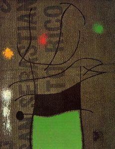 Mujer y pájaro 2 - (Joan Miro) Spanish Painters, Spanish Artists, Joan Miro Pinturas, Modern Masters, Retro, Modern Art, Tapestry, Artworks, Inspire