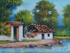 Cuadros Modernos Pinturas y Dibujos : Galería Paisajes Campesinos al Óleo, Gabriel Nieto
