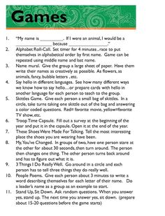 Girl Scout Brownie Troop Leader Binder list of go-to games if you need ideas to keep the girls occupied.