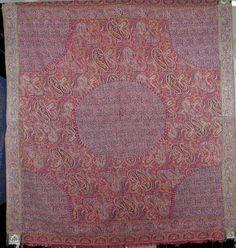 Kashmir Moon shawl from the High Sikh period, c1835. Franke Ames.com